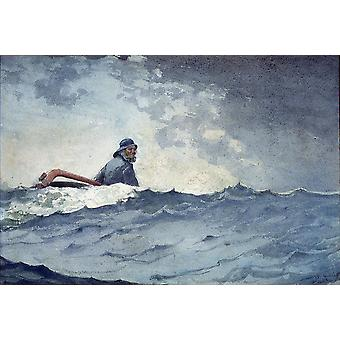 Winslow Homer - A Swell of the Ocean Poster Print Giclee