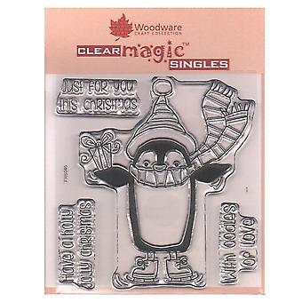 Woodware Clear Stamps Pinguin 4 Geschenkset