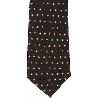 Michelsons of London Floral Neat Wool Tie - Green