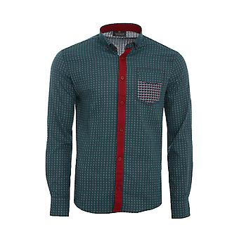 Tazzio fashion shirt men's long sleeve-shirt Green G-704