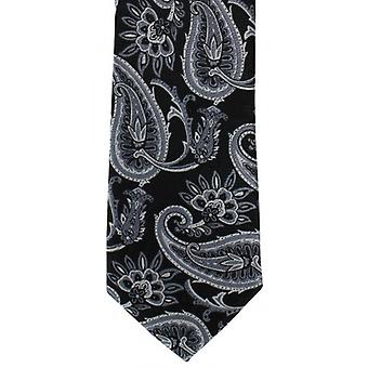 Michelsons af London fed Paisley Polyester slips - grå