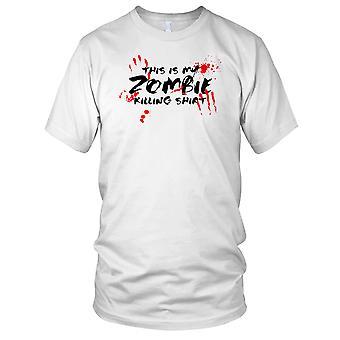 Dette er min Zombie Killing skjorte Mens T-skjorte