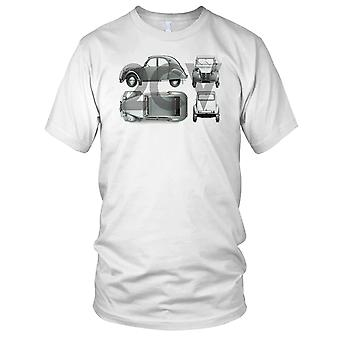 Citroen 2CV French Classic Car Kids T Shirt
