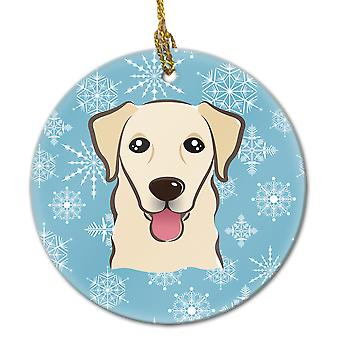 Carolines Treasures  BB1686CO1 Snowflake Golden Retriever Ceramic Ornament