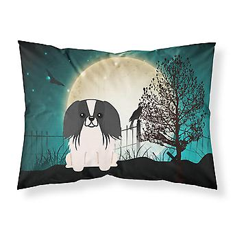 Halloween Scary Pekingnese Black White Fabric Standard Pillowcase