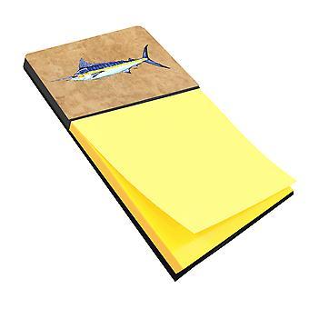 Blue Marlin Refiillable Sticky Note Holder or Postit Note Dispenser