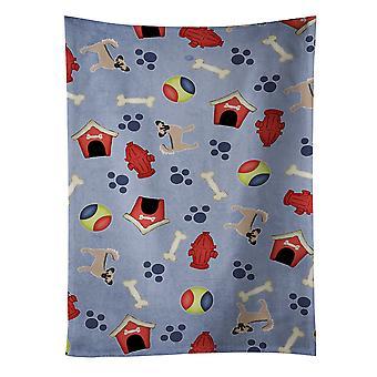 Hond huis collectie langharig zwart Tan Chihuahua #2 keuken handdoek
