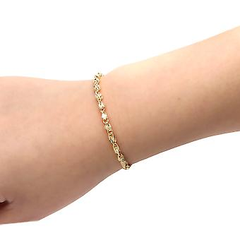 10k Yellow Gold Turkish Rope Chain Bracelet and Anklet , (3.5mm)