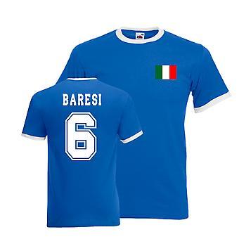 Franco Baresi Italy Ringer Tee (blue)