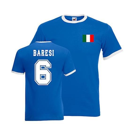 Franco Baresi Italië Ringer Tee (blauw)