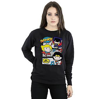 DC Comics Women's Chibi Super Friends Dance Sweatshirt