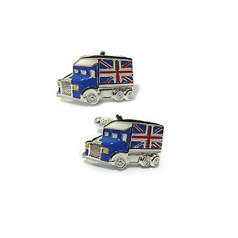 Onyx-Art Union Flag Truck Cufflinks