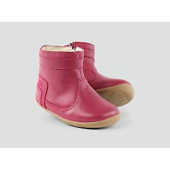 Bobux Bolt Boot Pink Leather With Wool Lining