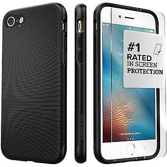 SaharaCase iPhone 8 & 7 Black Scorpion Case, Trend Protective Kit Bundle with ZeroDamage® Tempered Glass
