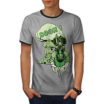 Juegos auge tóxicos Geek hombres Heather gris / Heather GreyRinger oscuro camiseta | Wellcoda