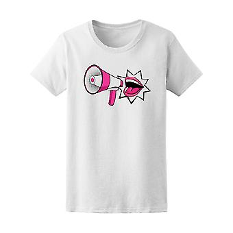 Pop Art Mouth With Megaphone Tee Women's -Image by Shutterstock