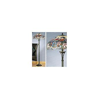 Interiors 1900 FB10-TG72SHL Sullivan Tiffany Glass 2 Light Floor Lamp