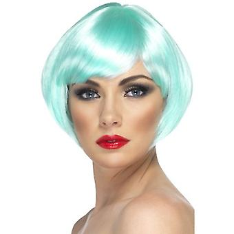 Smiffys Babe Wig Aqua Short Bob With Fringe (Babies and Children , Costumes)