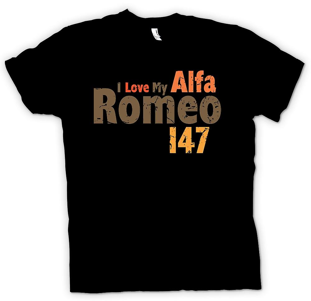 Womens T-shirt - I Love My Alfa Romeo - Car Enthusiast