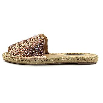 INC International Concepts Womens Ilta2 Fabric Peep Toe Espadrille Flats