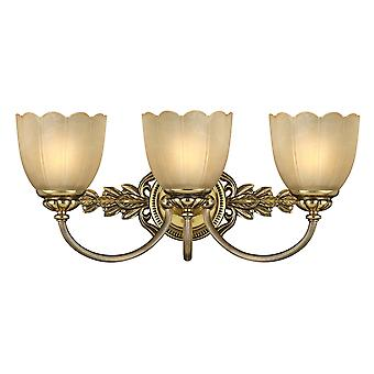 Burnished Brass 3lt Above Mirror Light - 3 x 3.5W LED G9