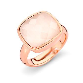 Orphelia Silver 925 Ring Rose Gold Cream  Zirconium   ZR-7198/CR