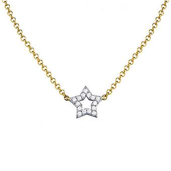 ESPRIT women's chain necklace Silver Gold cubic zirconia Pico wish ESNL93366B420
