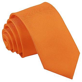 Celosia oranje solide Check slanke Tie