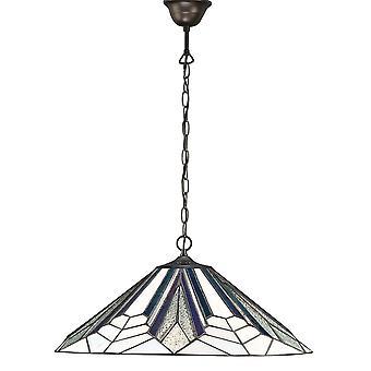 Interieurs 1900 Astoria enkele lichte grote Tiffany plafond hanger met