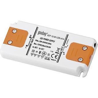 Goobay SET 12-06 LED slim LED transformer Constant voltage 6 W 0.5 A 12 Vdc Approved for use on furniture