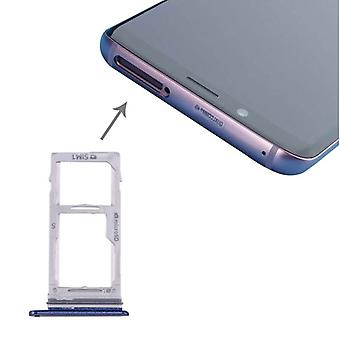 For Samsung Galaxy S9 G960 / S9 plus G965 Simcards Halter SIM tray SD card blue