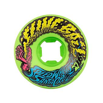 Santa Cruz Neon Blue Slime Balls Vomit Mini 97a - 54mm Skateboard Wheels