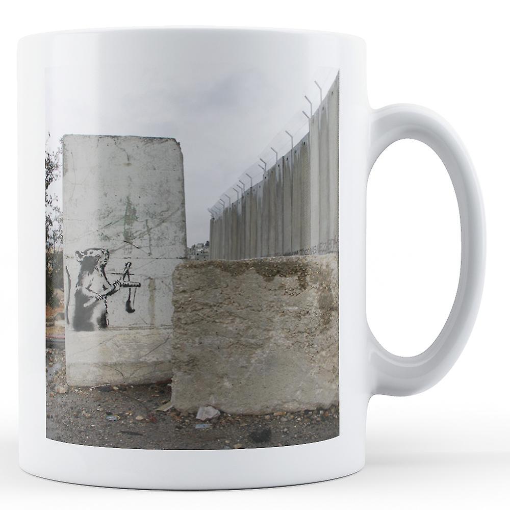 Catapulte Mug BanksyOeuvrenbsp;rat Doté De Imprimé Avec nbsp; 0PkwN8nOXZ