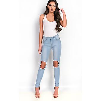IKRUSH женские Кэссиди тощий разорвал джинсы колена