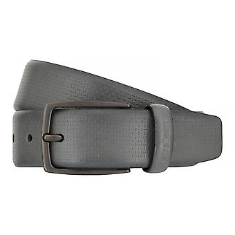 Strellson belts men's belts leather belt grey 7563