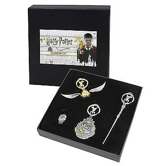 Harry Potter Deluxe gift set 4-stuks, gedrukte, metalen (Tin), in collector's vak.