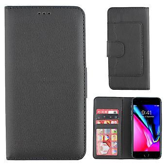 Bolsa Colorfone de la carpeta del iPhone 7/8 (negro)