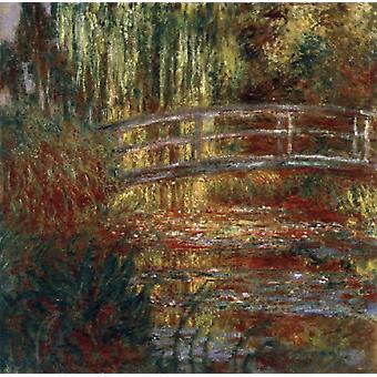 The Japanese Bridge,Claude Monet,50x50cm