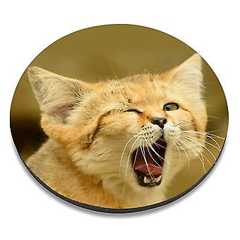 i-Tronixs - Cat Printed Design Non-Slip Round Mouse Mat for Office / Home / Gaming - 2