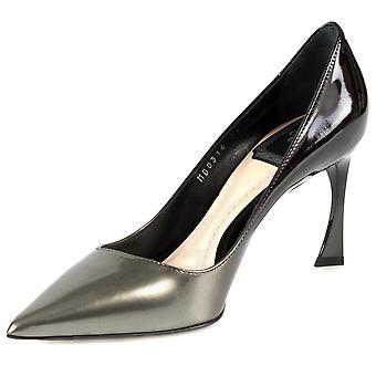 Dior Graded Patent Calfskin Pump   8cm Heel   Grey and Black