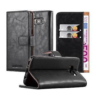 كادورابو كم سامسونج غالاكسي S8-الحالة في تصميم فخم مع حامل البطاقة وتقف وظيفة-تغطية حالة الأكمام الحقيبة حقيبة الكتاب