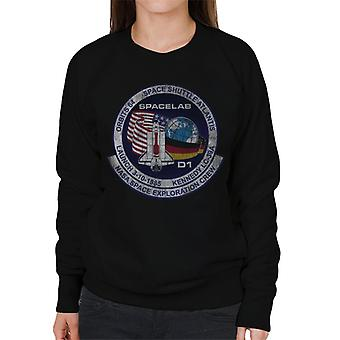 NASA STS 61 A Challenger Mission Badge Distressed Women's Sweatshirt