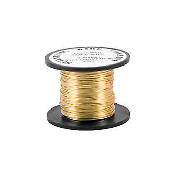 1 x Golden Plated Copper 0.4mm x 20m Round Craft Wire Coil WG040