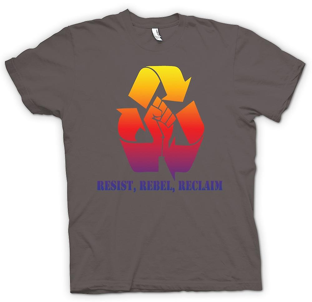 Mens T-shirt-Resist Rebel Reclaim