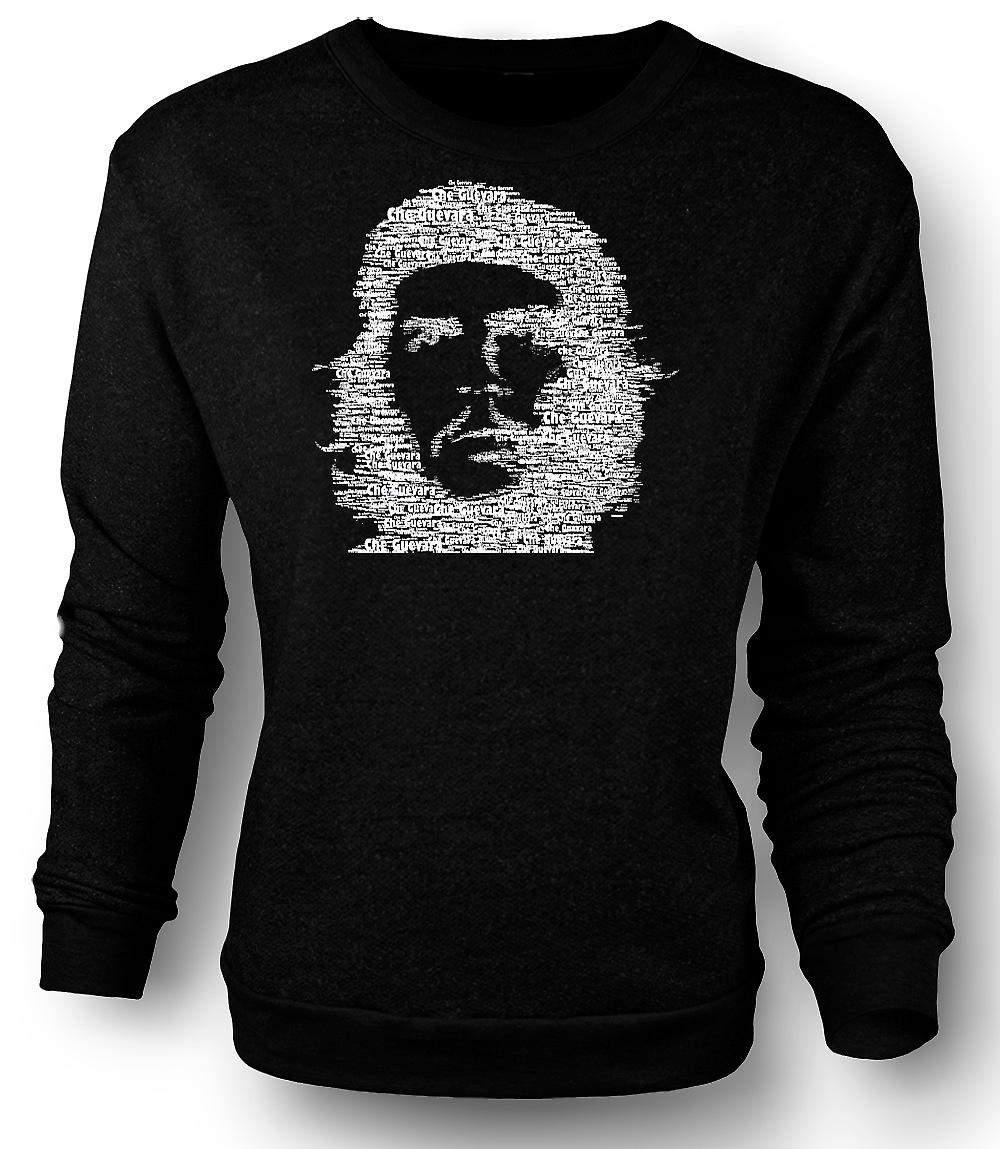 Mens Sweatshirt Che Guevara Word Cloud - Cool