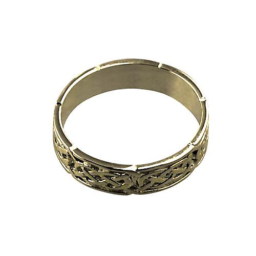 18ct Gold 6mm Celtic Wedding Ring Size Z