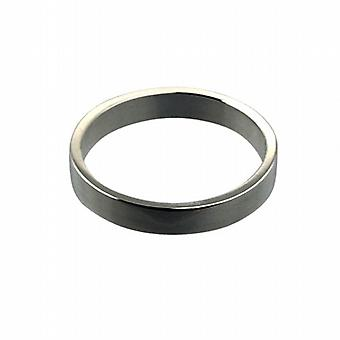 Platinum 3mm plain Flat Wedding Ring
