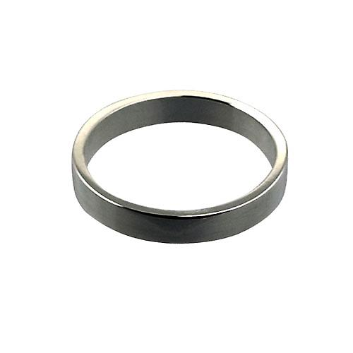 Platinum 3mm plain flat Wedding Ring Size P