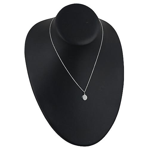 Silver 10mm plain round Disc with Rolo chain