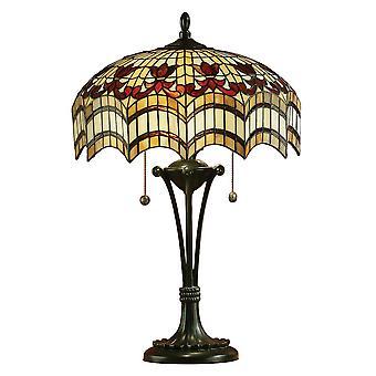 Vesta Medium Tiffany Style Table Lamp - Interiors 1900 64377